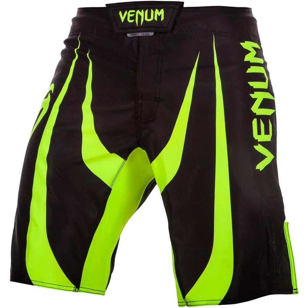Шорты ММА Venum Predator Black/Neo Yellow