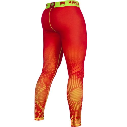 Компрессионные штаны Venum Fusion Compression Spats - Orange Yellow