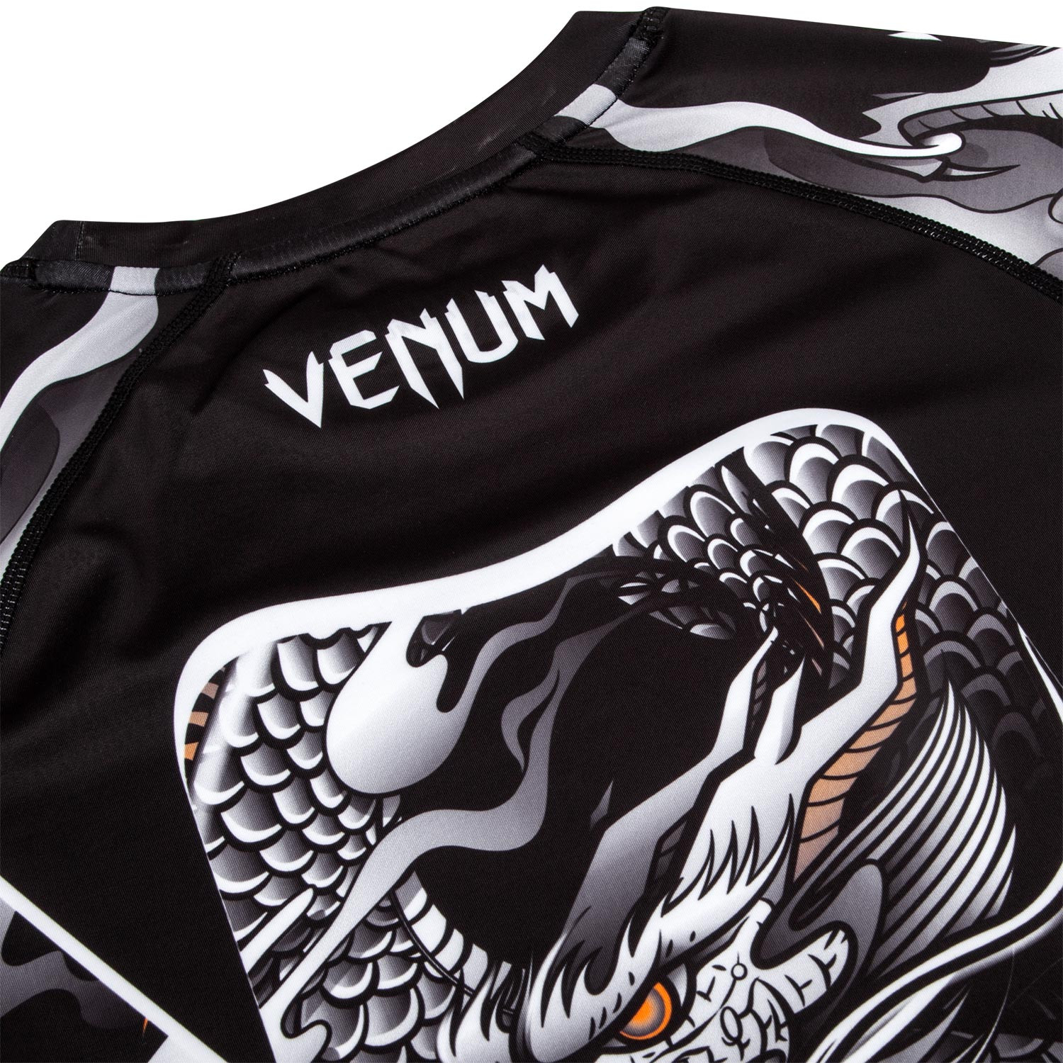 Рашгард Venum Dragon's Flight Black/White S/S